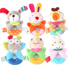 Baby Toys Soft Plush Infant Development Animal Handbells Rattles Toy Hand Bell Interactive Newborn Gift Toys For Baby 0-12 Month босоножки barkito сандалеты для девочки barkito фуксия