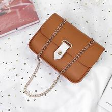 Womens Fashion Simple Shoulder small bag for women solid color luxury designer chain Messenger Bag Wild Casual Small Square