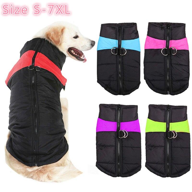 Зимняя одежда для собак и домашних животных, одежда для маленьких и больших собак, водонепроницаемое Женское пальто, жилет с подкладкой для ...