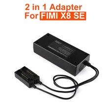 2 in1 europejskiej standardowy Adapter baterii zdalnego kontrolera ładowarka Adapter do FIMI X8 SE akumulator Drone akcesoria