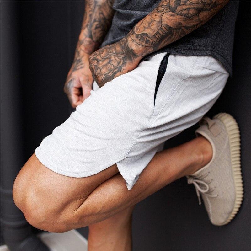 Mens Gym Cotton Shorts Men Hot Casual Beach Knee Length Short Pants Male Jogger Bodybuilding Sweatpants Fitness Workout Shorts