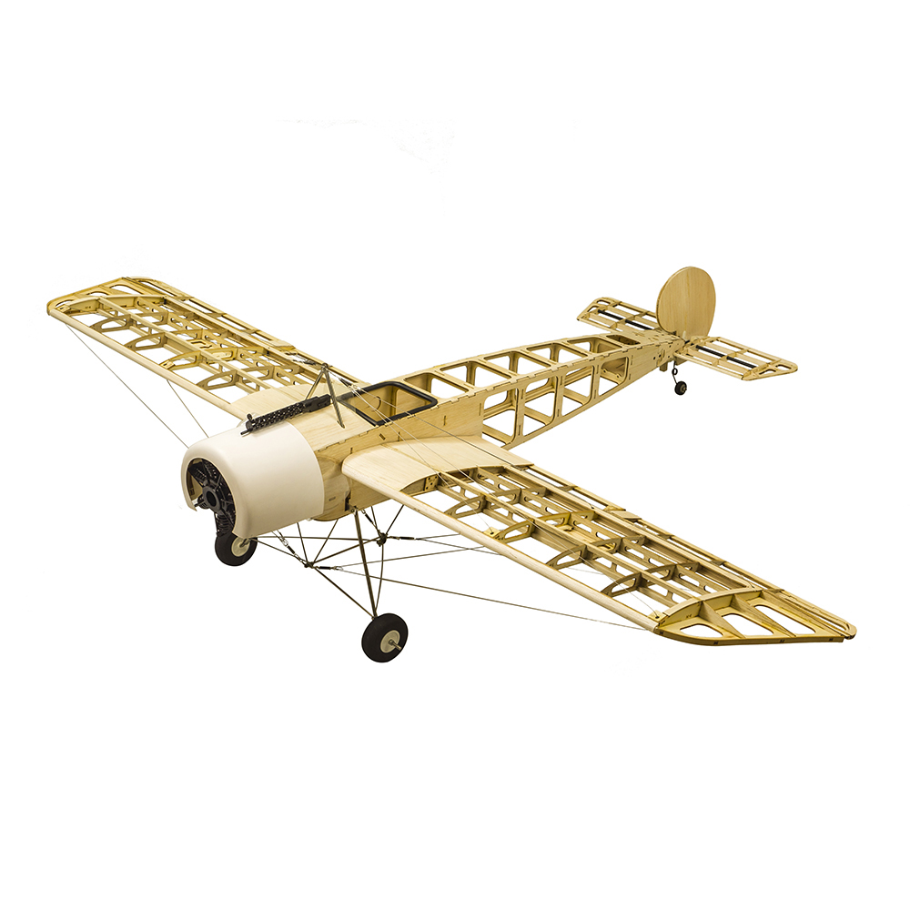 S2401 Balsa Wood RC Airplane 1520mm Electric or Gasoline Powered Fokker-E RC Aircraft Unassembled Flying Model Assembling Toys image