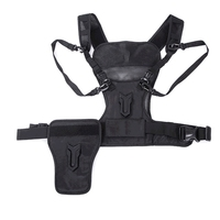 Multi Camera Carrier Photographer Vest with Dual Side Case Strap for Canon Nikon Sony DSLR Camera