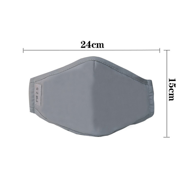PM2.5 cotton into the population mask KN95 dust mask activated carbon filter windbreaker muffin anti-flu mask 4