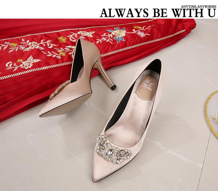 Женские красные свадебные туфли; Изящные туфли на каблуке с