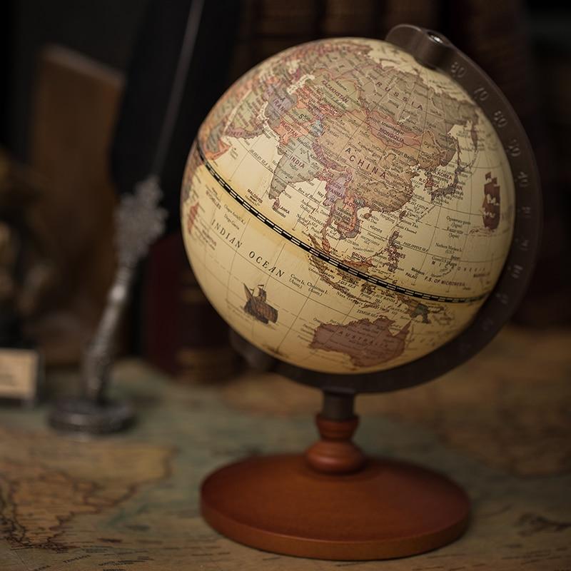 Geografia Globo Do Mapa Mundi, земной шар, 5 дюймов, винтажные деревянные украшения, Dia World Globe карта в виде созвездия