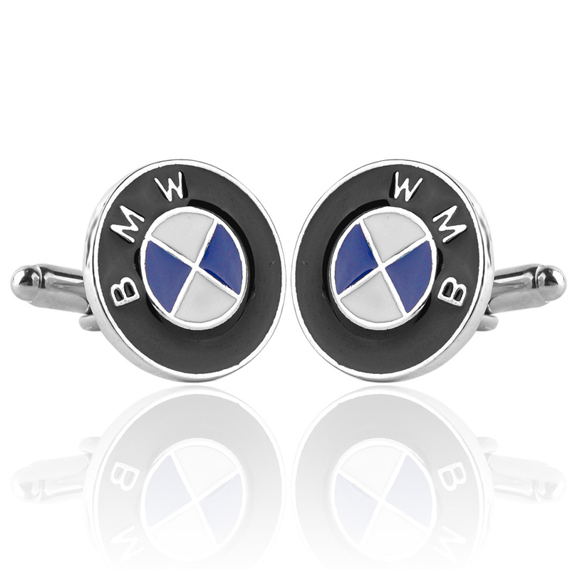 AliExpress New Style Boutique Round French Car Logo Cufflinks Men's Cool Business Shirt Cufflinks Wholesale
