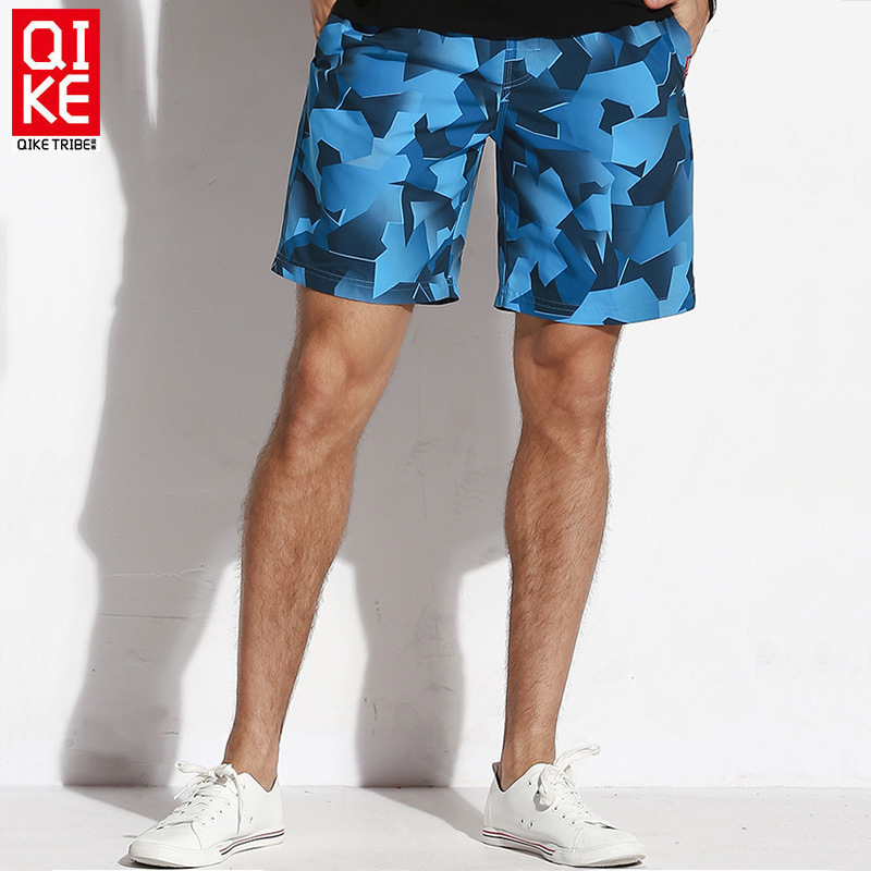 Chic New Style Geometry Printed MEN'S Beach Pants Casual Quick-Dry Summer Outdoor Shorts Beach Holiday Hot Springs Pants