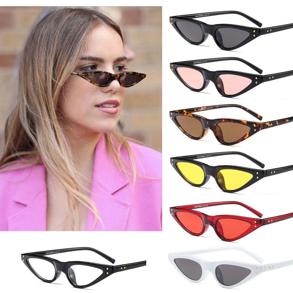 Gafas de sol Retro con forma de ojo de gato para mujer, anteojos de sol femeninos, a la moda, estilo Retro, Punk, pequeñas, gafas de sol estilo ojos de gato, gran oferta