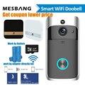 Wifi видео дверной звонок беспроводной дверной домофон камера батарея мощность умный дверной звонок телефонный звонок с чимом TF карта беспла...