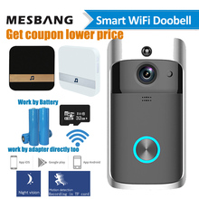 wifi video doorbell wireless door intercom camera battery power smart door bell