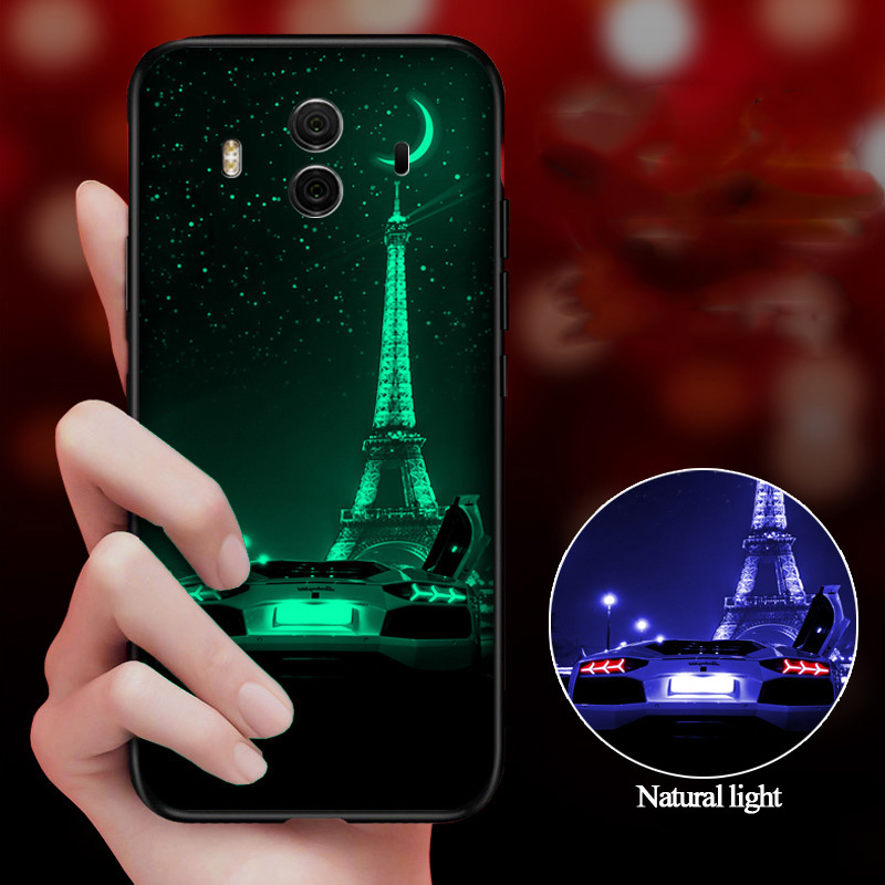 Luminous <font><b>Glass</b></font> <font><b>Cases</b></font> For <font><b>Huawei</b></font> Mate 30 20 10 P30 P20 Pro Lite Nova 6 6SE 5T 3e Honor V30 V10 9i 8 <font><b>P10</b></font> Plus Tempered <font><b>Glass</b></font> Cover image