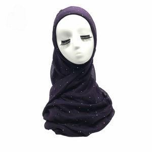 Image 5 - Thời Trang Viscose Hijabs Khăn Choàng Nữ Thanh Lịch Đầu Đồng Bằng Lấp Lánh Kim Sa Lấp Lánh Hồi Giáo Hijab Nữ Cotton Hồi Giáo Khăn Mềm Hút 1 PC