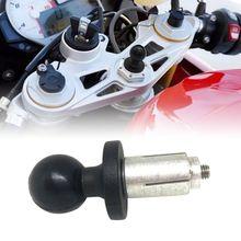 Base de aluminio de goma para soporte de motocicleta Base de vástago de horquilla negra con cabezal de bola para soporte de RAM para adaptador de montaje de bola Gopro