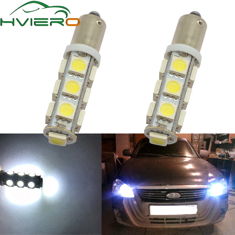 2X T11 Ba9s T4W 5050 13smd White Auto Auto Led Marker Lamp License Plate Light Festoon Dome Lamp Door Bulb Dc 12v Parking Wedge