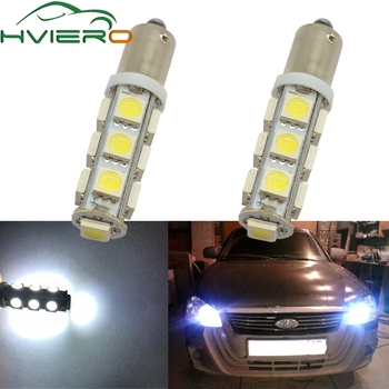 2X T11 Ba9s T4W 5050 13smd White Auto Auto Led Marker Lamp License Plate Light Festoon Dome Lamp Door Bulb Dc 12v Parking Wedge 10pcs t11 ba9s 5050 5 smd led white light bulb car light source car 12v lamp t4w 3886x h6w 363 high quality