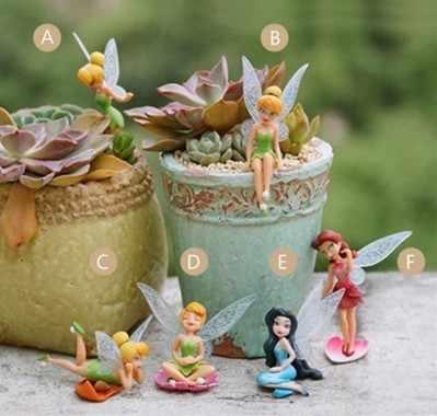 1PC Terbang Peri Bunga Miniatur Manusia Hidup Elegan Cute Mobil Desktop Kue Patung Taman Ornamen Rumah Dekorasi Aksesoris