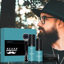 4Pcs/set Beard Growth Kit Hair Growth Enhancer Thicker Oil Nourishing Essence Leave-in Conditioner Beard Care with Comb