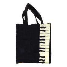Hot Fashion Black Piano Keys Music Handbag Tote Bag Shopping Bag Handbag M2EB