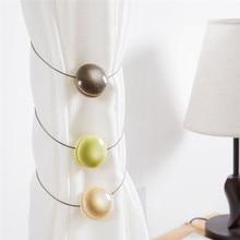 Curtain Holder Simple Cat-eye Resin Magnet Buckles Home Tieback  European Round Shape Window Curtains Accessories