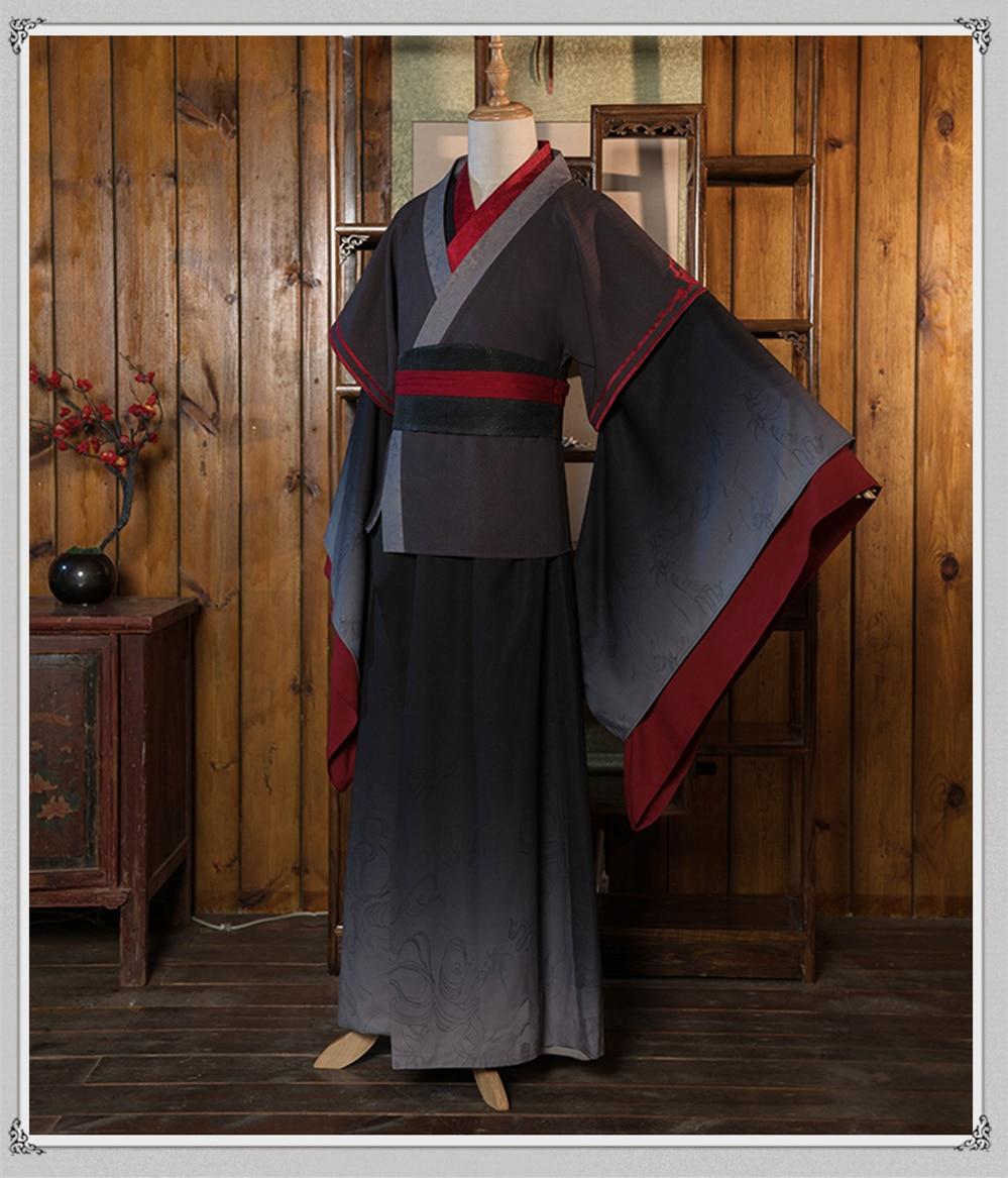 Nouveau Cosplay Wei Wuxian Mo Xuanyu Costume Anime grand maître de la culture démoniaque Cosplay Mo Dao Zu Shi Costume hommes - 2