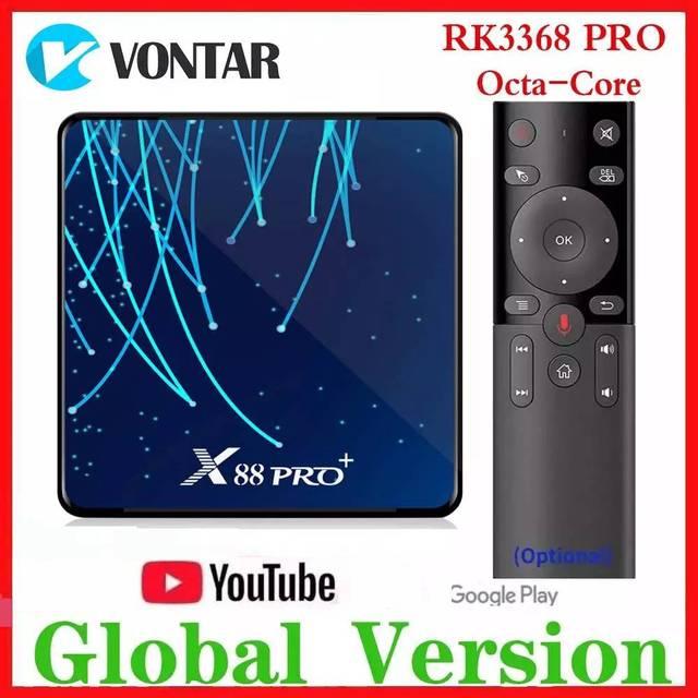 RK3368 PRO Octa Core TV BOX Android 9.0 4 go RAM MAX 128 go ROM TV Box USB3.0 Google Assistant vocal lecteur multimédia 32G/64G
