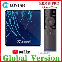 RK3368 PRO Octa Core TV BOX Android 9.0 4GB di RAM MAX 128GB di ROM TV Box USB3.0 Vocale di Google assistente di Media Player 32G/64G