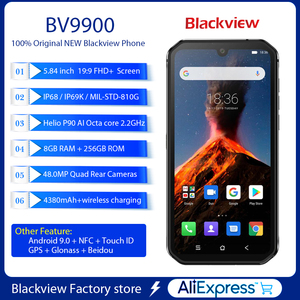 Image 3 - Smartphone Blackview BV9900 8GB+256GB Helio P90 Octa Core IP68 Rugged Mobile Phone Android 9.0 48MP Quad Camera NFC