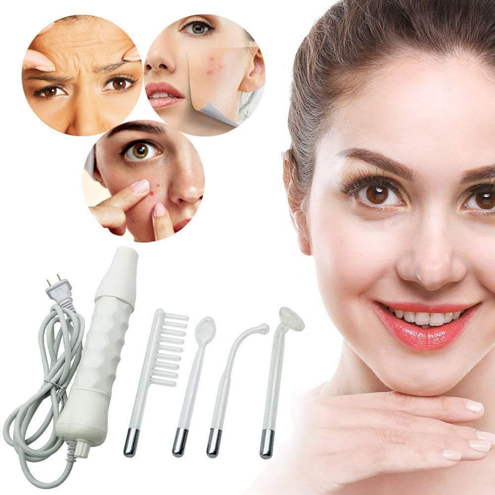 Face Skin Stick Portable Handheld High Frequency Facial Care Therapy Machine Tightening Anti Wrinkle Dark Circle Eyes Massage