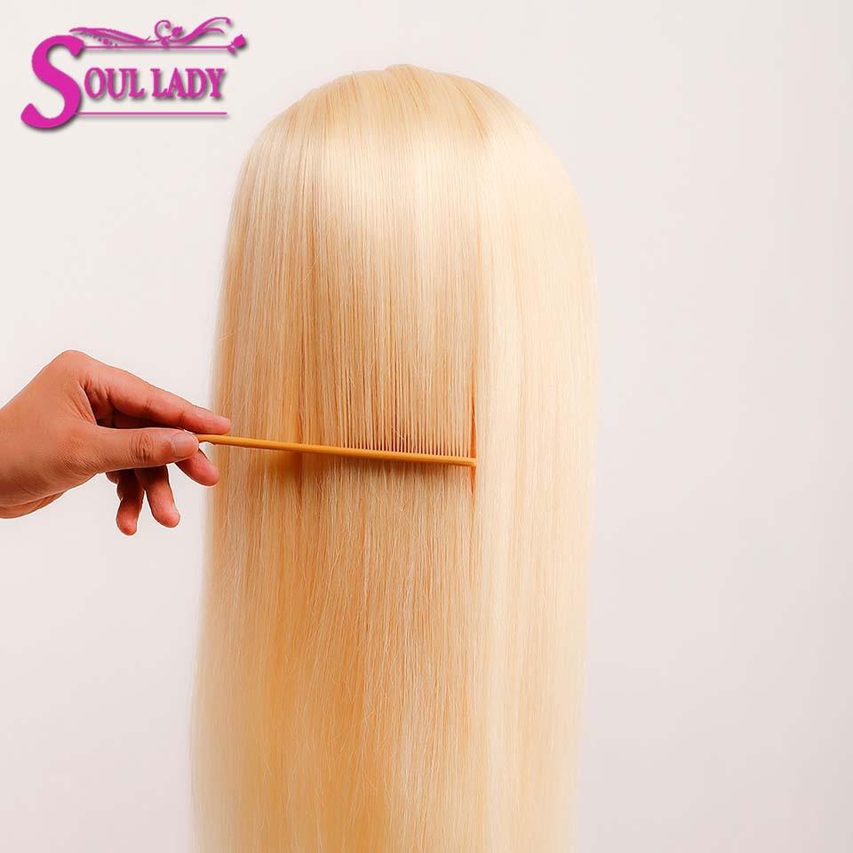 613 Honing Blonde Lace Front Pruik 13X4 Lijmloze Rechte Kant Voor Pruik 180% Braziliaanse Remy Menselijk Haar Transparante hd Lace Pruik - 4