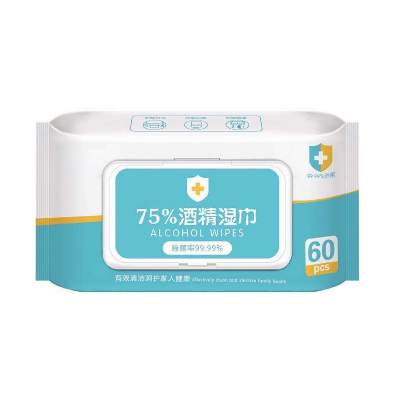 Wet Wipes 99.9% Sterilization Wipes Disinfection Wipes Disinfection Wipes 60 Pumpings / Bag