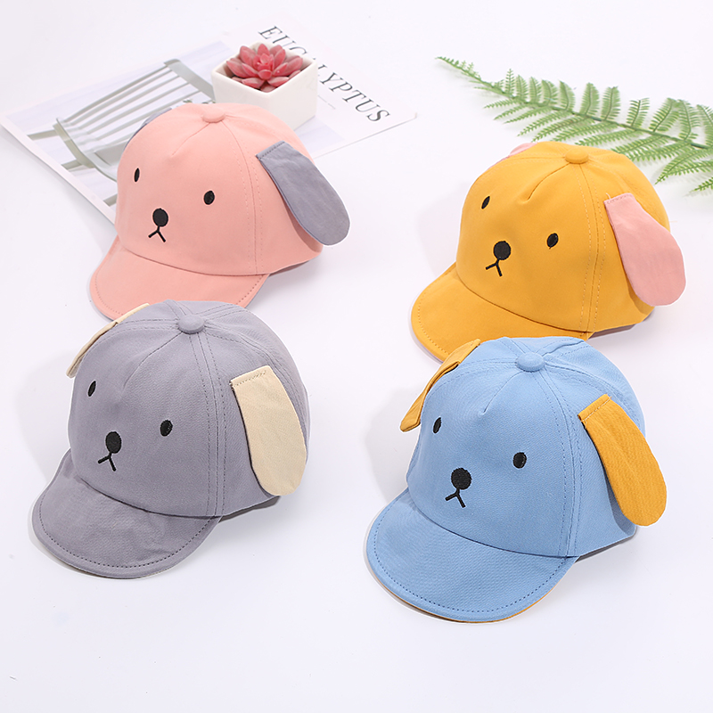 H348abd96e90f4f87b675be8aba9efe0bo - Baby Hat Cute Bear Embroidered Kids Girl Boy Caps Cotton Adjustable Newborn Baseball Cap Infant Toddler Beach Outdoor Sun Hat