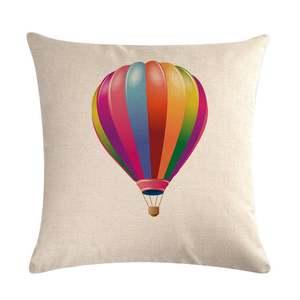 Cases Cushion-Cover Hot-Air-Balloon-Series Sofa Linen Home-Decor Car-Bed