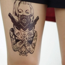 1PCS Sexy Fake Tattoo sleeve Men And Women Fake Tatoo Body Art Waterproof Temporary Tattoos Stickers