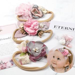Baby Headband Turban Hair-Accessories Flower Elastic Newborn Girls Big Bohemia