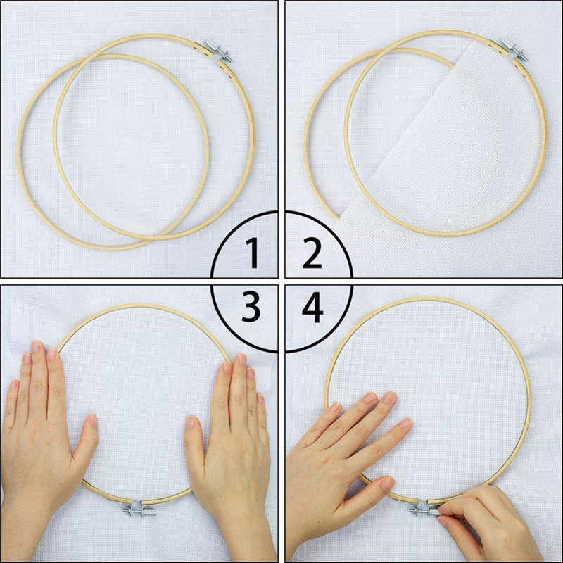 Kayu Sihir Bordir Pena Punch Jarum Felting Threader Set Menjahit Kit dengan Bordir Hoop Kain Set untuk Wanita