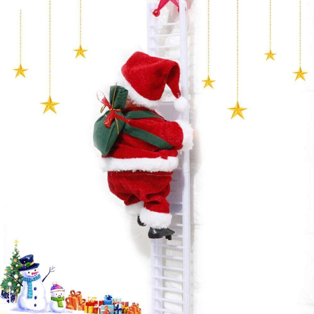Fidget Toys Single Ladder Electric Climbing Bead Curtain Climbing Gifts Santa Claus Christmas Stairs
