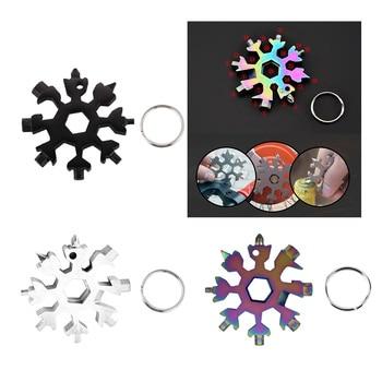 18 ühes lumehelbe lumevõtmega tööriistavõtmega kuuskantvõtmega multifunktsionaalne telkimine välistingimustes tööriistade pudeli avaja kruvikeeraja