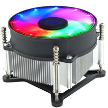 Heat Dissipation Stable Practical Portable 3 Pin Radiator Heatsink LED RGB Desktop Computer CPU Cooling Fan For Intel 115X(China)