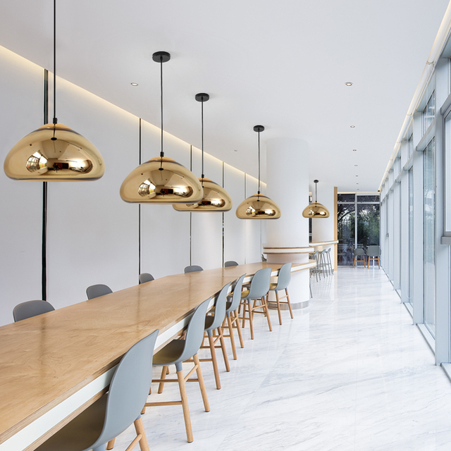 Фото nordic led стеклянные шаровые подвесные светильники современный