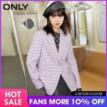 Только в том случае, Новинки для женщин Клетчатый костюм пиджак   120408020