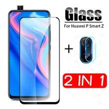 2 em 1 vidro de proteção para huawei p inteligente z vidro temperado para hauwei p inteligente 2019 psmartz STK-LX1 câmera lente protetor filme