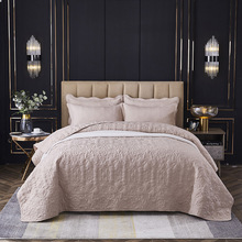 CHAUSUB Solid Bedspread on the Bed Quilt Embossed Blanket for Bed with Pillowcase King Queen Size Bed Cover Summer Coverlet