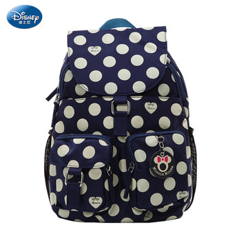 Disney Backpack Mickey Cartoon SchoolBag multi-pocket With Cover Waterproof Nylon Bag Fashion Party Cute Travel Bag Lady Or Girl