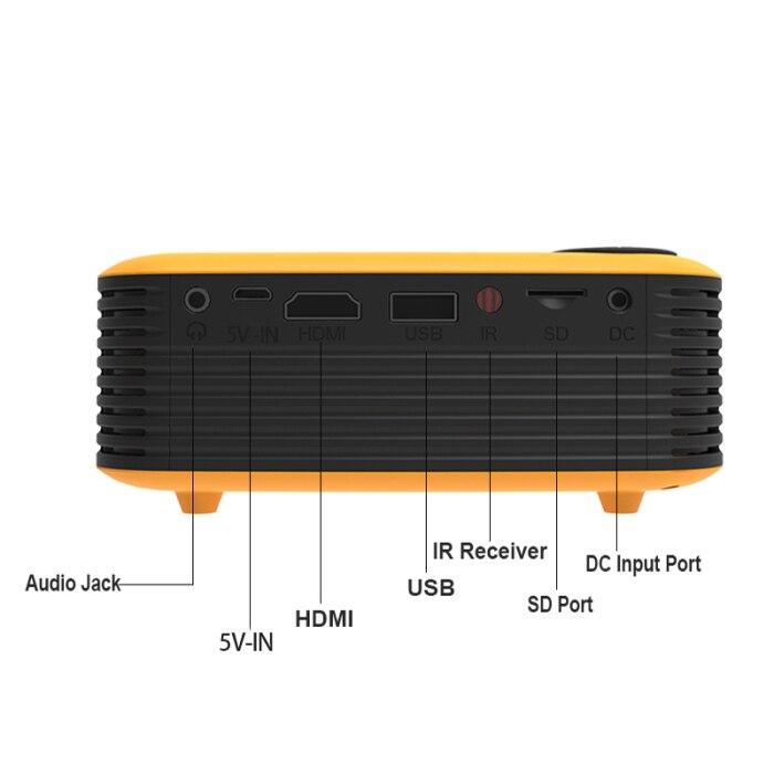 Mini projetor de bolso portátil hd 1080