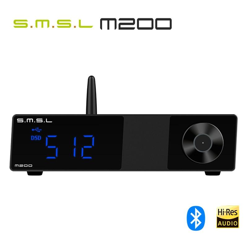 ЦАП SMSL M200 AK4497EQ, Bluetooth 5,0, поддержка 32 бит/768 кГц, DSD512 декодер с дистанционным управлением