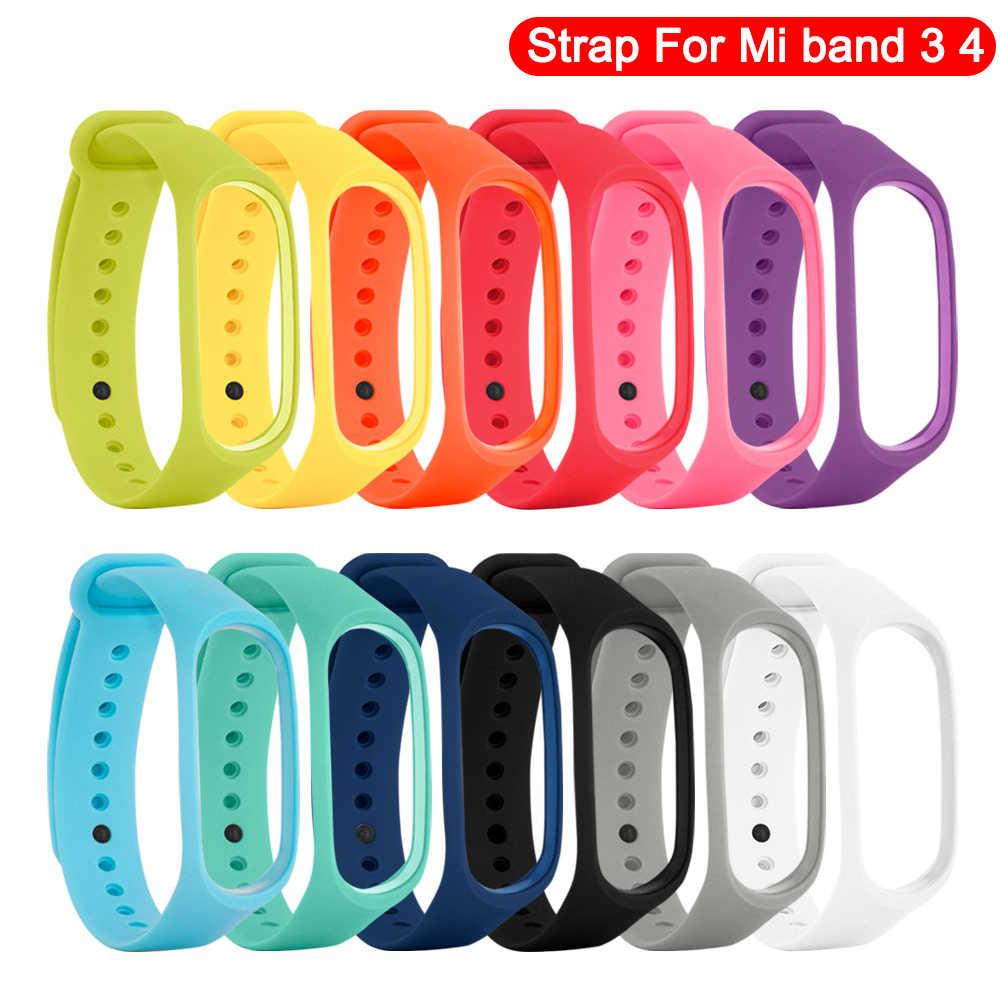 Pretty Replacement Wristband for Xiaomi Mi Band 3 strap for Xiaomi correa mi band 4 strap pulseira mi band 4 3 bracelet mi band