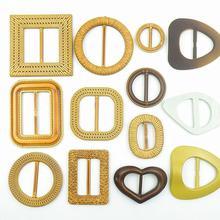 Belt-Buckle-Slider Backpack-Strap Ribbon-Decorative Adjustable Wedding-Card Plastic
