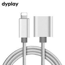 8Pin arabirim uzatma kablosu 1m erkek kadın genişletici iPhone iPad Mini iPod şarj adaptörü geçiş ses Video veri