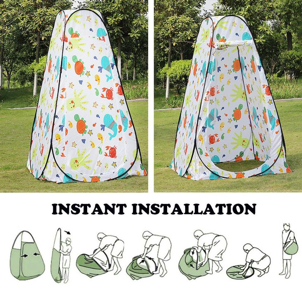Camp Toilet Tent Changing Room for Outdoors Hiking Travel Vertical Horizontal Rain Shelter for Camping and Beach Instant Portable Outdoor Shower Tent Pop Up Pod Changing Room Privacy Tent